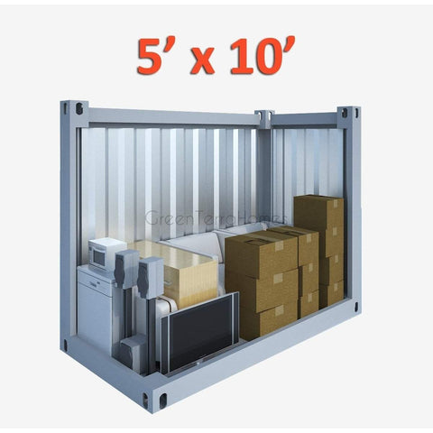 PORTABLE SELF STORAGE POD 5X10 STEEL STORAGE BUILDINGS - SHIPPING CONTAINER- SEA CAN-GreenTerraHomes
