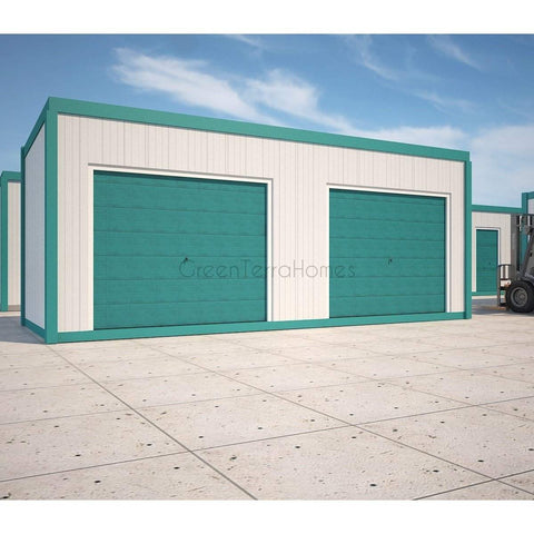 SELF STORAGE POD 8X22 TWO (2) BAY STEEL STORAGE BUILDINGS - SHIPPING CONTAINER-GreenTerraHomes