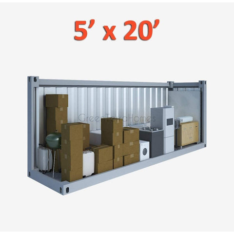PORTABLE SELF STORAGE POD 5X20 STEEL STORAGE BUILDINGS - SHIPPING CONTAINER- SEA CAN-GreenTerraHomes