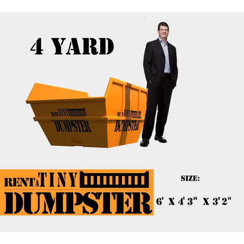PORTABLE Roll-off Container 4-yard Dumpster Roll off Dumpster for trash Construction Waste Bin-GreenTerraHomes
