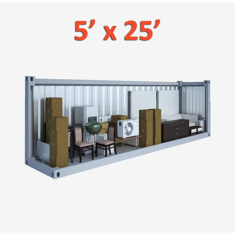 PORTABLE SELF STORAGE POD 5X25 STEEL STORAGE BUILDINGS - SHIPPING CONTAINER- SEA CAN-GreenTerraHomes