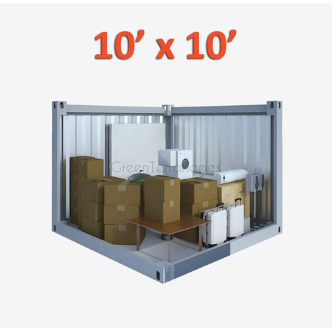 PORTABLE SELF STORAGE POD 10X10 STEEL STORAGE BUILDINGS - SHIPPING CONTAINER- SEA CAN-GreenTerraHomes