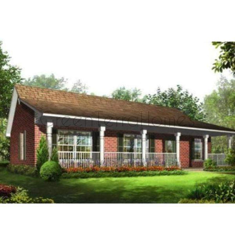 PREFAB HOME KIT 3BR 2BA 1032SF THE BRIGHAM NS4136 MODERN PREFAB KIT HOUSE-GreenTerraHomes