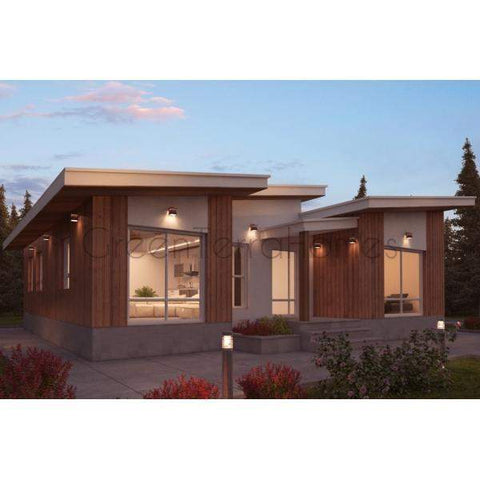 MODULAR HOME 4BR 3.5BA 3350SF THE HYATT MODERN MODULAR HOUSE-GreenTerraHomes