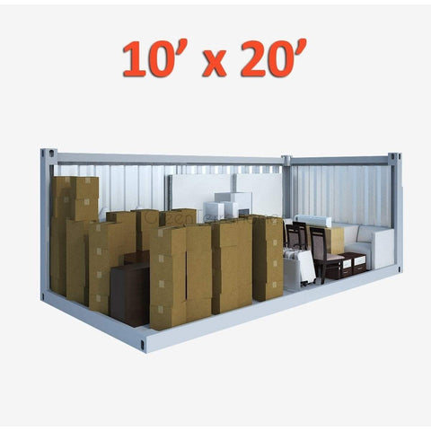 PORTABLE SELF STORAGE POD 10X20 STEEL STORAGE BUILDINGS - SHIPPING CONTAINER- SEA CAN-GreenTerraHomes