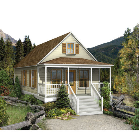 Prefab cottage kit 1br 1ba 576sf the warburton ns1838 prefab kit cottage greenterrahomes