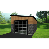 STEEL GARAGE, CAR GARAGE, GARAGE KIT - MODERN 1 CAR 12'x20' 240sf-GreenTerraHomes