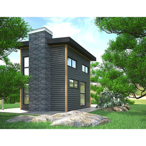 GreenTerraHomes PREFAB COTTAGE KIT 400SF EUROPA PREFAB POOL HOUSE KIT