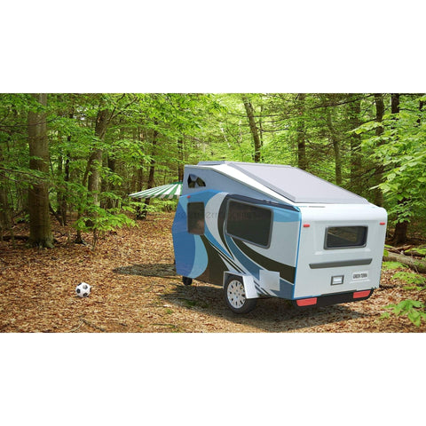 TRAVEL TRAILER 5x12 MICRO RV THE JACANA TEARDROP RV CAMPER-GreenTerraHomes
