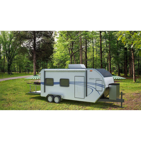 TOY HAULER 8x22 RV THE MONAX CUSTOM TRAVEL TRAILER CAMPER-GreenTerraHomes