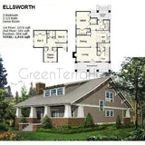 MODULAR HOME 4BR 2.5BA 1919SF THE ELLSWORTH NS2850 MODERN MODULAR HOUSE-GreenTerraHomes