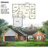PREFAB HOME KIT HOME 3BR 2BA 2CAR GARAGE 2507SF THE GRIANAN NS5757 PREFAB KIT HOUSE-GreenTerraHomes