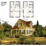 PREFAB HOME KIT 2BR 2BA 784SF THE O'CONOR MODERN PREFAB KIT HOUSE-GreenTerraHomes