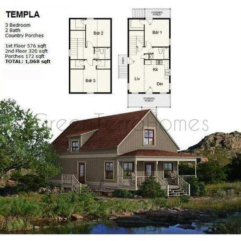 GreenTerraHomes PREFAB HOME KIT TEMPLA STEEL FRAME PREFAB KIT HOME