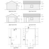 STEEL 1 CAR GARAGE 14'x22' 308SF METAL GARAGE KIT NG1422
