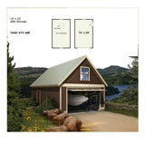 BOAT HOUSE STEEL GARAGE KIT 14X24 336SF METAL GARAGE KIT NG1424