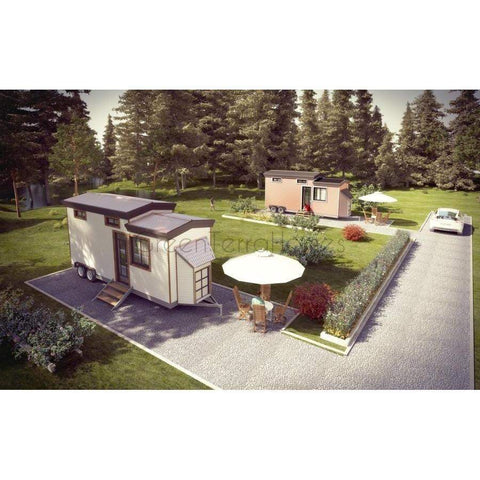 Tiny Home Framing Kit 8'x28' 1BR 1BA 224sf +138sf Loft Tiny House-Prefab Kit - Tiny Homes-BryanBaeumler-GreenTerraHomes