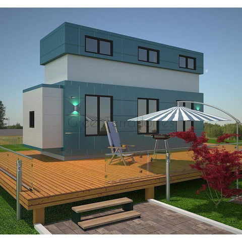 TINY HOME 8'X24' 218SF +128SF 2ND STORY POP UP LOFT 2BR 1BA THE SIRIUS TINY HOUSE, STUDIO, GUEST HOUSE-GreenTerraHomes