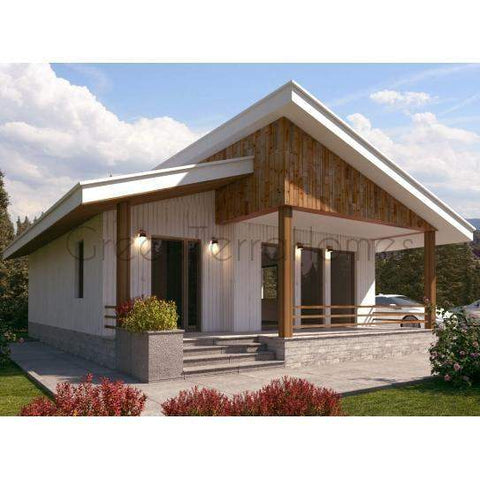 MODULAR HOME 2BR 1BA 880SF THE MAIMIA MODERN MODULAR HOUSE-GreenTerraHomes