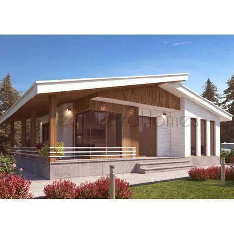 PREFAB HOME KIT 3BR 1.5BA 1050SF THE MANUAE MODERN PREFAB KIT HOUSE-GreenTerraHomes