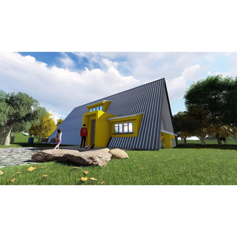 PREFAB HOME KIT A-FRAME 2BR 1BA 420SF +120SF LOFT THE ASPEN 14X30 AFRAME-GreenTerraHomes