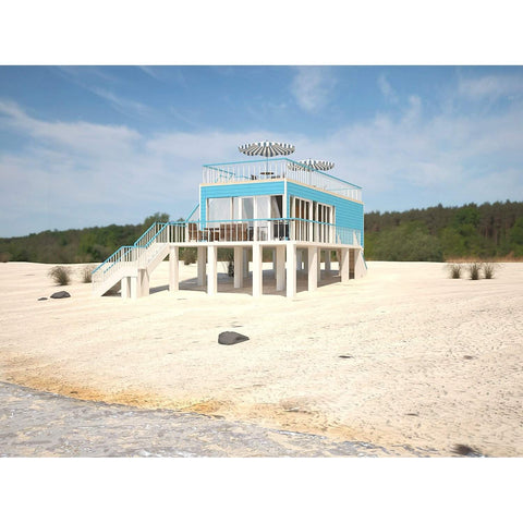 PREFAB BEACH HOME KIT 2BR 1BA 580sf NAGS HEAD COASTAL HOUSE