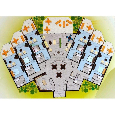 Modular multi tenant retirement home 24 unit 1br 1ba 300sf for Multi family modular home prices