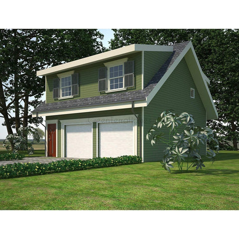 The carriage house 1br 1ba 650sf 650sf 2 car garage for Modular carriage house garage
