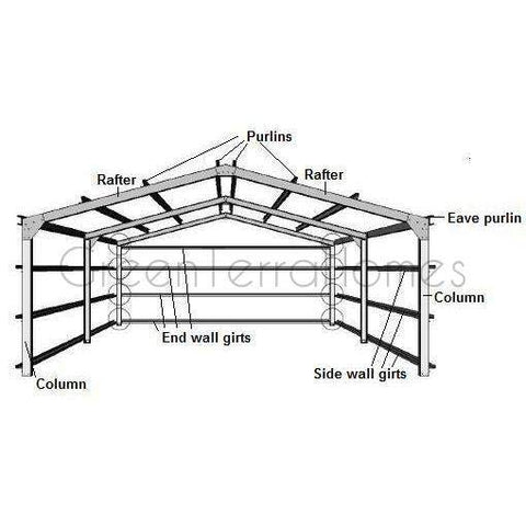 Vented Attic Siding Mixed Climate Raised Plate Metal Roofing Wood Shingle Siding Over Rig furthermore Gambrel Garden Shed furthermore Plans For Gable Roof Shed additionally Catalogue Farm Buildings Timber Buildings further Workshop Slope Roof. on metal lean to kits