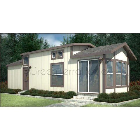 MOBILE HOME 1BR 1BA 540SF 12'x45' THE VERMONT MANUFACTURED HOME-GreenTerraHomes