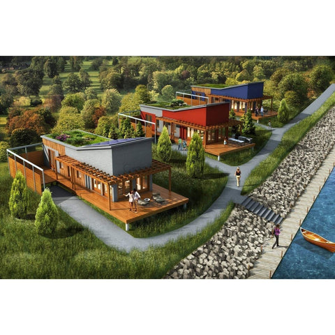 Elegant Prefab Homes Kit Home 1BR 1BA 560 Sq Ft   BETHANY 14x40 Modern Kit Houses