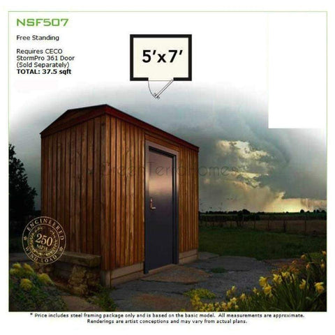 5'X7' SAFE ROOM - STORM SHELTER FRAME KIT-GreenTerraHomes