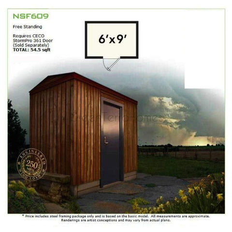 6' X 9' SAFE ROOM - STORM SHELTER FRAME KIT-GreenTerraHomes