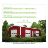 STEEL BUILDINGS - 20' WIDE METAL BUILDINGS FREE SHIPPING, LOCAL INSTALLATION AVAILABLE