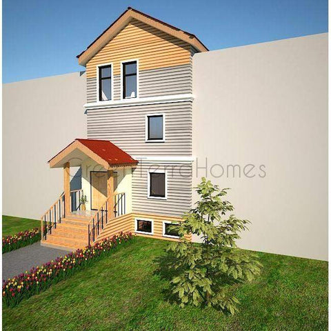 TOWN HOME 4BR 4BA 2400SF THE BOSTON INFILL MODULAR TOWN HOUSE-GreenTerraHomes