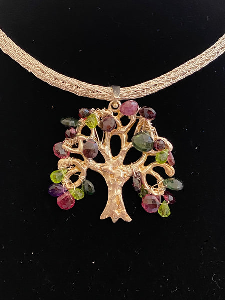 Tree of life with Tourmalines