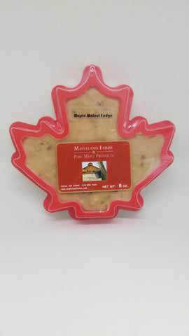 Mapleland Farm Maple Walnut Fudge in shape of maple leaf