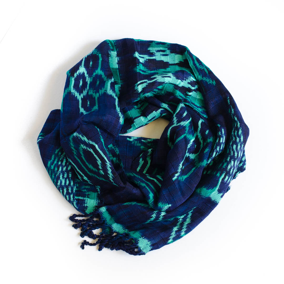 Handwoven 100% silk scarf/ wrap