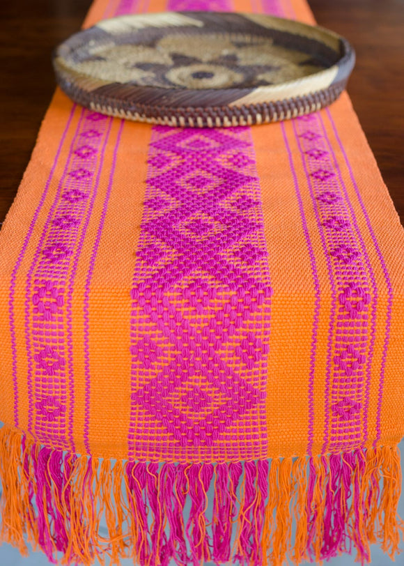 Mexican handwoven table runner