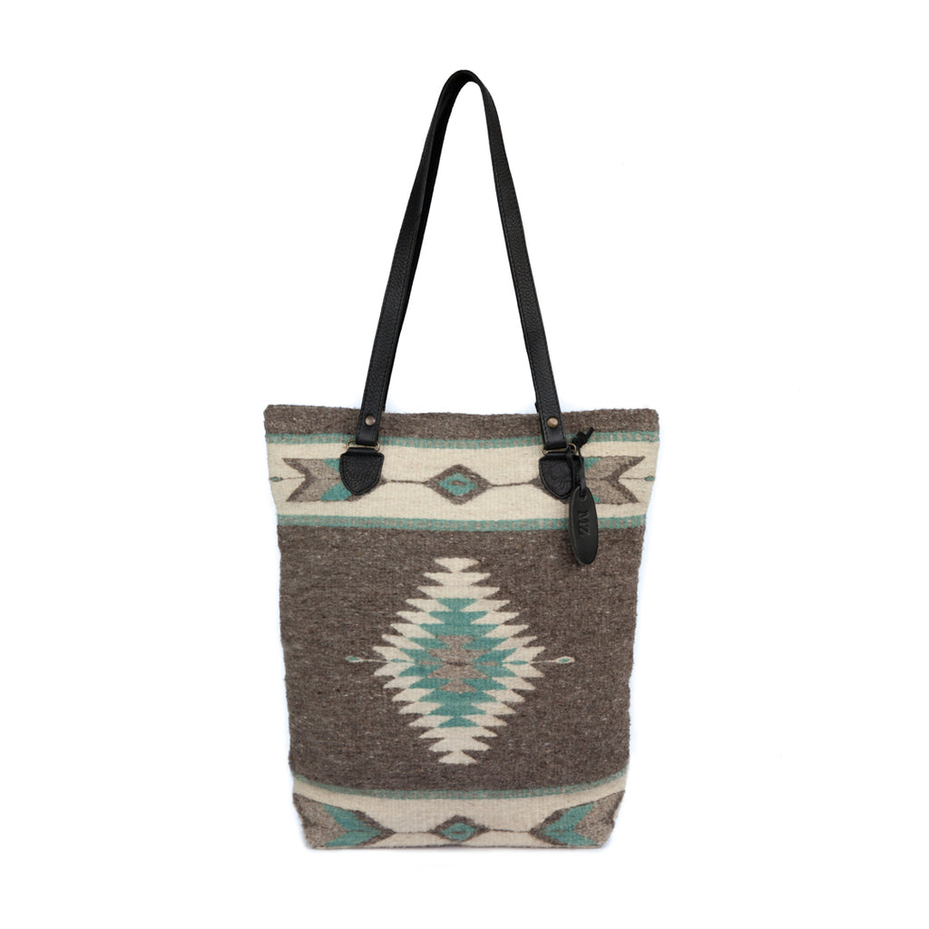 Handwoven wool tote bag