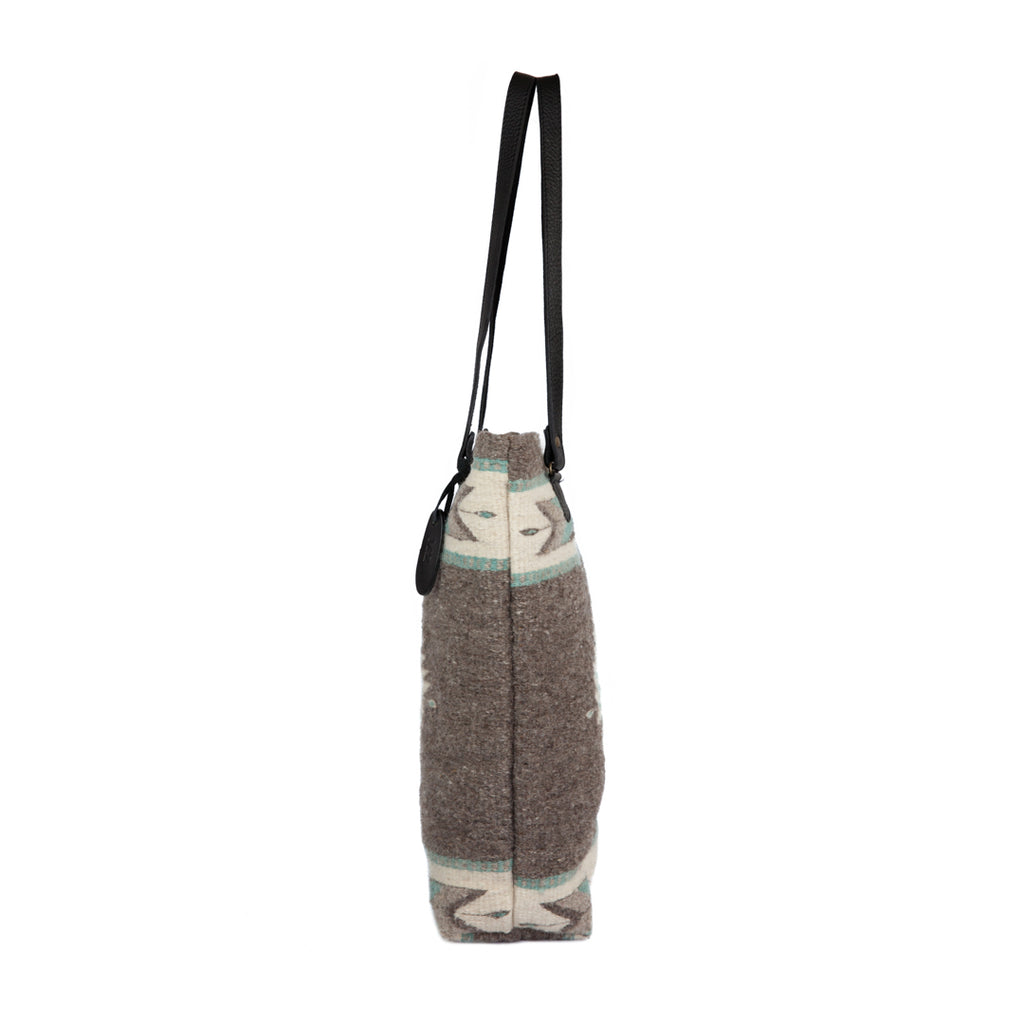 Fair trade wool tote bag
