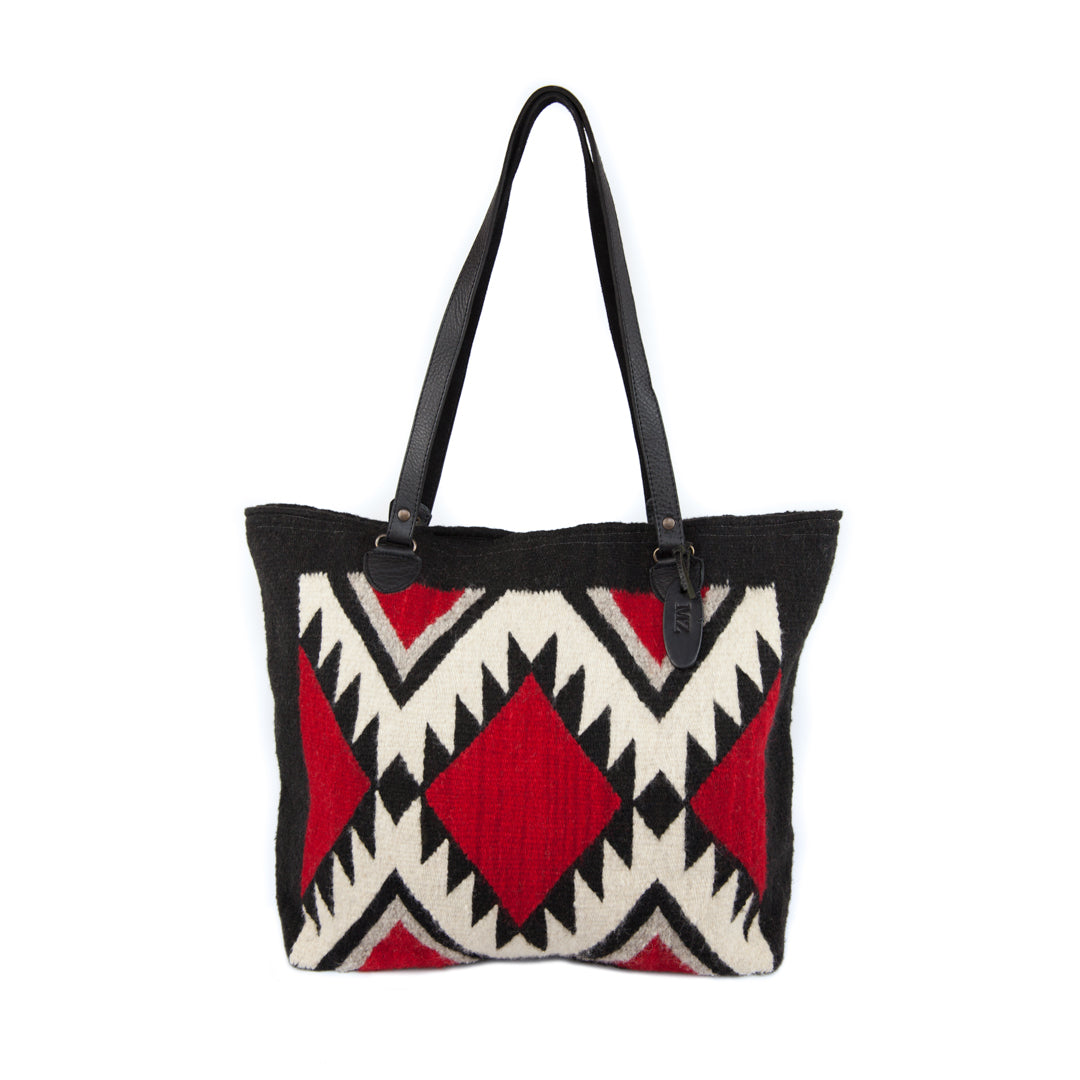 Jagged Diamonds Gloria Wool Tote