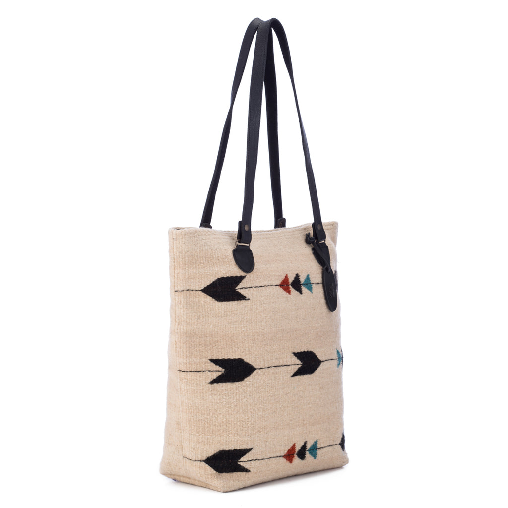 Obsidian Arrow Wool Tote Bag