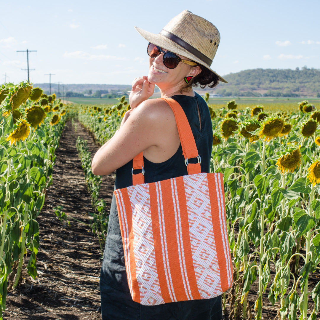 Weekender tote bag - orange