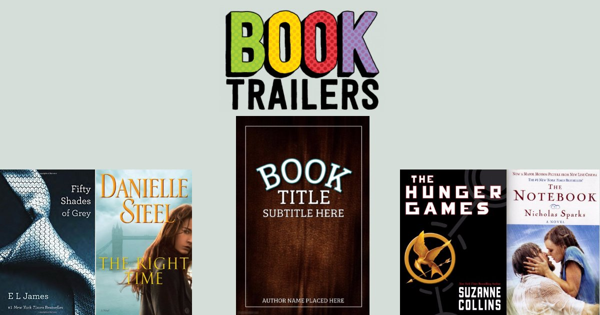 Book Trailers for your books!