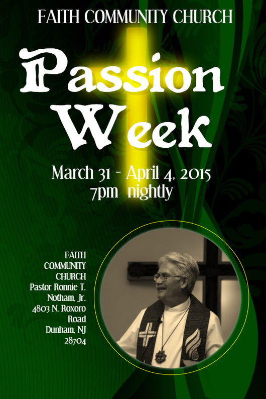 Passion Week Flyer - Book Trailers for your books!