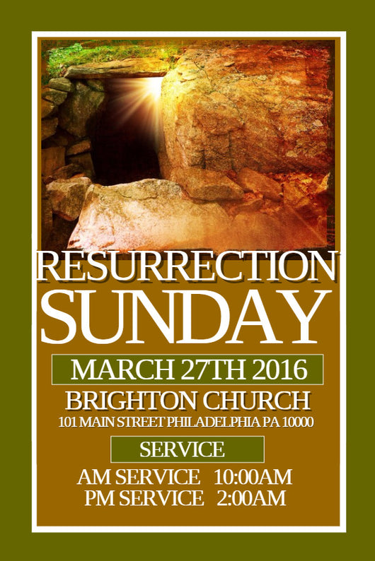 Resurrection Flyer - Book Trailers for your books!