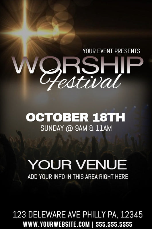 Worship Flyer - Book Trailers for your books!