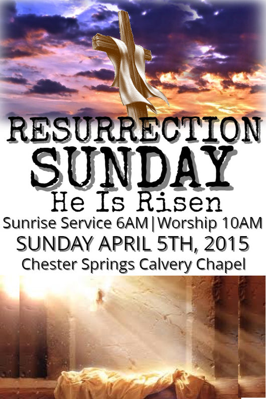 Resurrection Sunday Flyer - Book Trailers for your books!