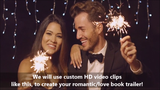 Custom Book Trailer (w/royalty free video clips)- for Romance Books - Book Trailers for your books!